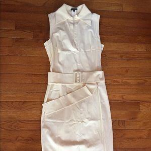 Striking belted dress